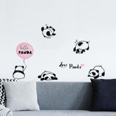 Crearreda zidne naljepnice Funny ML, Love panda