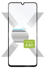 Fixed Ochranné tvrdené sklo Full-Cover pre Samsung Galaxy A41, lepenie cez celý displej, čierne FIXGFA-528-BK