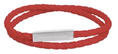 Troli Dizajnový dvojitý prepletaný červený náramok