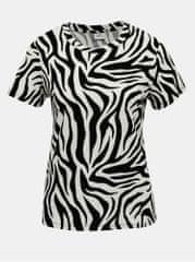 Jacqueline de Yong krémovo-černé tričko se zebřím vzorem Diana