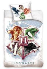 Carbotex komplet pościeli dziecięcej Harry Potter Logo Hogwartu