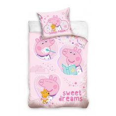 """SETINO Otroška posteljnina """"Pujsa Peppa"""" - 140x200, 70x90 cm roza"""