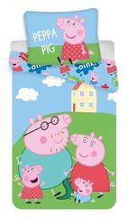 "SETINO Detské obliečky ""Peppa Pig"" - 140x200, 70x90 zelená"