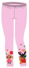 SETINO Dievčenské legíny Zajačik Bing - svetlo ružová