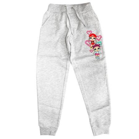 """SETINO Dziewczęce spodnie dresowe """"LOL"""" - szary - 140 / 9–10 rokov"""