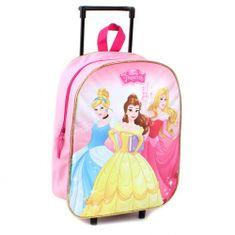 """Vadobag Detský cestovný kufor na kolieskac """"Disney Princess"""" - ružová"""