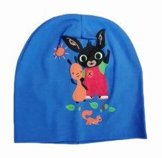 SETINO Detská bavlnená jarná / jesenná čiapka pre chlapcov Zajačik Bing - svetlo modrá