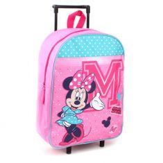 """Vadobag Detský cestovný kufor na kolieskach """"Minnie Mouse"""" - ružová"""