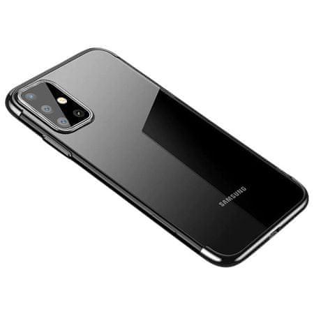 MG Clear Color Case silikonski ovitek za Samsung Galaxy A71, črna