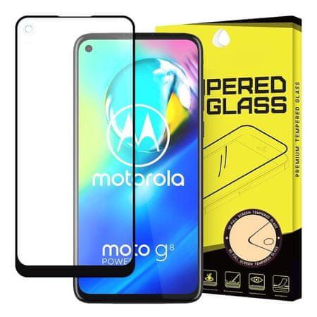 MG Full Glue Super Tough zaščitno steklo za Motorola Moto G8 Power, črna