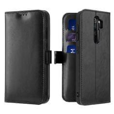Dux Ducis Kado knížkové kožené pouzdro Xiaomi Redmi Note 8 Pro, černé