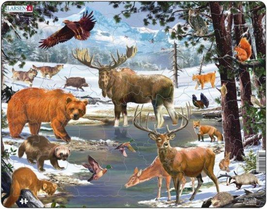 LARSEN Puzzle Krajina severního lesa 54 dílků