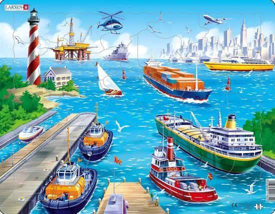 LARSEN Puzzle V přístavu 35 dílků
