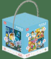 Dodo Toys Puzzle Můj den 4v1 (12,16,20,24 dílků)