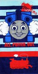 """SETINO Gyermek törölköző """"Thomas a gőzmozdony"""" - kék - 70 x 140 cm"""