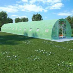 Szklarnia ogrodowa, stalowa konstrukcja, 54 m², 18x3x2 m