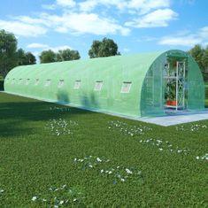Szklarnia ogrodowa, stalowa konstrukcja, 45 m², 15x3x2 m
