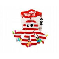 Mom's igrača Hobotnica, šumeča, rdeča/bela