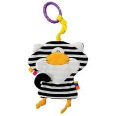 Mom's igrača Stripy Cat, šumeča, črna/bela