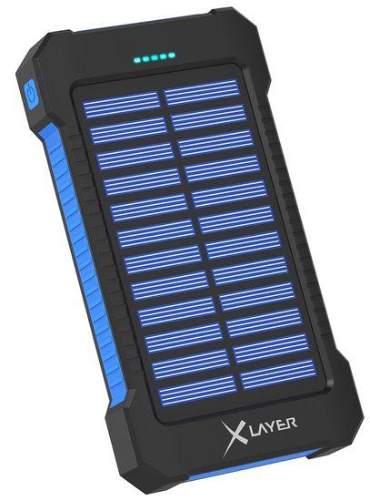 XLAYER Powerbank PLUS Solar 8000 mAh, černá/modrá 215869