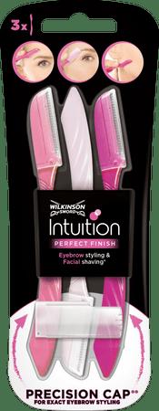 Wilkinson Sword Intuition Perfect Finish szemöldökformázó, 3 darab