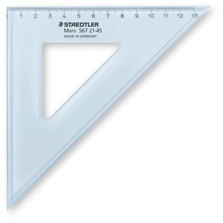 Staedtler trikotnik, 21 cm, 45/45 stopinj, prozorno moder