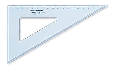 Staedtler trikotnik, 21 cm, 60/30 stopinj, prozorno moder