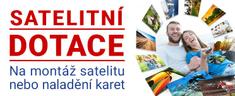Satelitní dotace Satelitní komplet pro 1 kartu +zprovoznění technikem po celé ČR