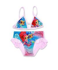 """SETINO Dziewczęcy kostium kąpielowy dwuczęściowy """"Shimmer i Shine"""" - różowy"""