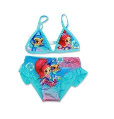 """SETINO Dziewczęcy kostium kąpielowy dwuczęściowy """"Shimmer i Shine"""" - turkus"""