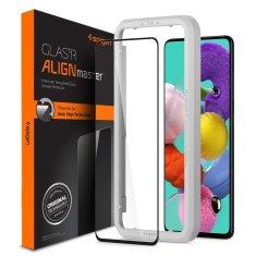 Spigen Alm Full Cover ochranné sklo na Samsung Galaxy A51, čierne