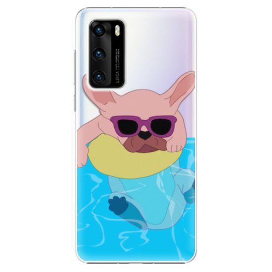 iSaprio Plastový kryt - Swimming Dog pro Huawei P40