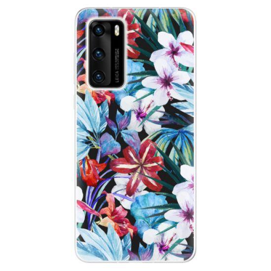 iSaprio Silikónové puzdro - Tropical Flowers 05 pre Huawei P40