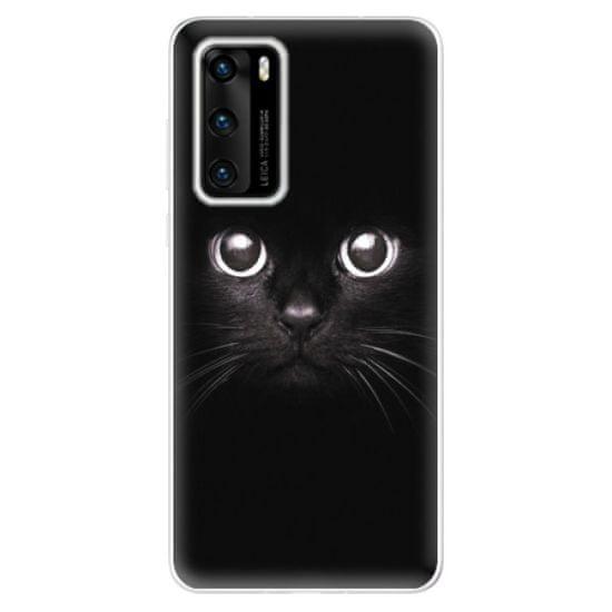 iSaprio Silikónové puzdro - Black Cat pre Huawei P40