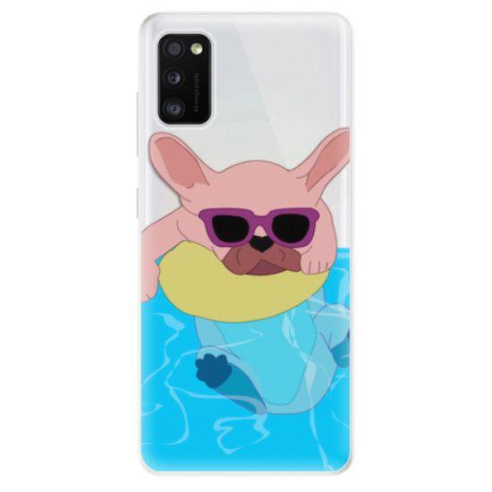 iSaprio Silikónové puzdro - Swimming Dog pre Samsung Galaxy A41