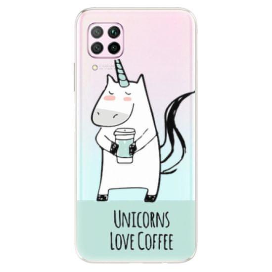 iSaprio Silikonové pouzdro - Unicorns Love Coffee pro Huawei P40 Lite