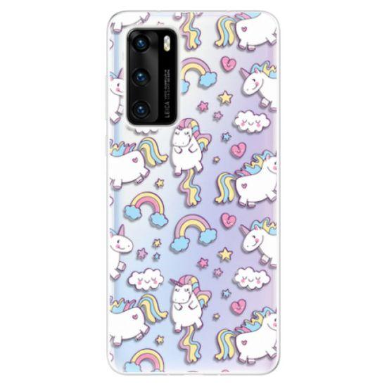iSaprio Silikónové puzdro - Unicorn pattern 02 pre Huawei P40