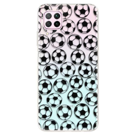 iSaprio Silikonové pouzdro - Football pattern - black pro Huawei P40 Lite