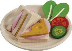 Plan Toys krožnik s sendvičem
