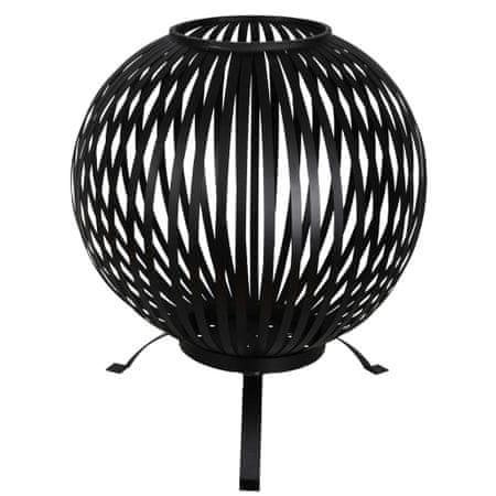 shumee Esschert Design FF400 fekete csíkos szénacél tűzrakó kosár