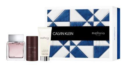 Calvin Klein Euphoria Men toaletna voda, 100 ml + balzam poslije brijanje, 100 ml + dezodorans u stiku, 75 ml