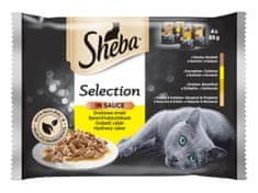 Sheba kapsičky pre mačky hydinové výber v šťave 52 x 85 g