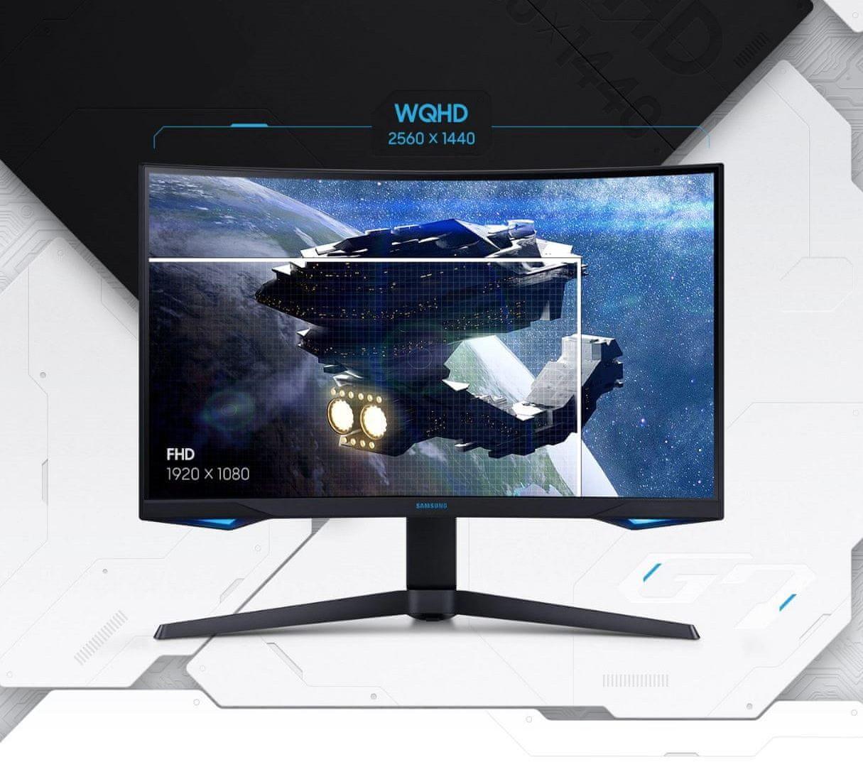 monitor Samsung Odyssey G7 (LC27G75TQSUXEN) VA 27 palců office displej