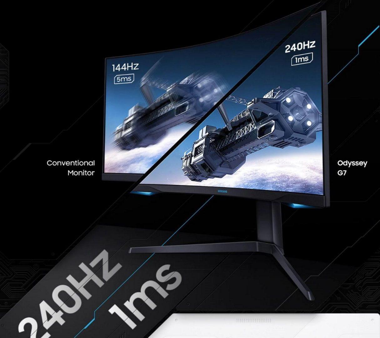 monitor Samsung Odyssey G7 (LC27G75TQSUXEN) AMD FreeSync Gsync 240 hz 1 ms