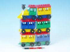 Lori Stavebnice 8 vlak + 5 vagónků plast v sáčku