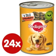 Pedigree Konzerva s hovädzím v želé pre dospelých psov 24x400 g
