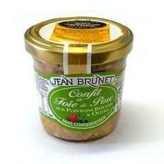 Jean Brunet Confit z bravčovej pečene s paprikou a olivami, 90g