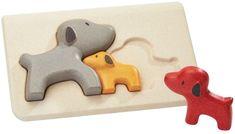 Plan Toys Puzzle család - kutyák