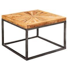 Bruxxi Odkladací stolík Timo, 55 cm, masívne drevo