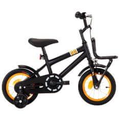 shumee Dětské kolo s předním nosičem 12'' černo-oranžové